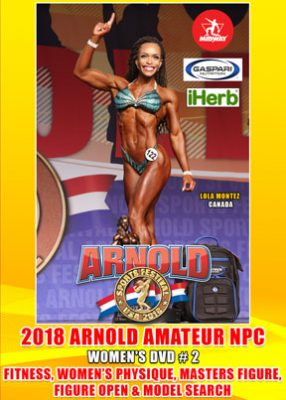 2018 Arnold Amateur NPC Women's DVD # 2 Figure, Fitness Etc DVD