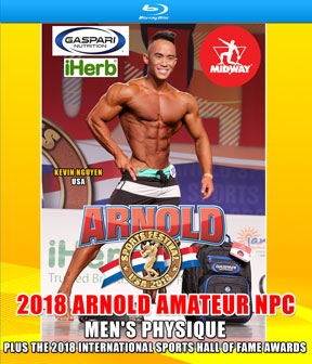 2018 Arnold Amateur NPC Men's Physique on Blu-Ray