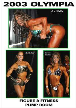 2003 Olympia: Figure and Fitness Pump Room