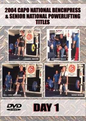 2004 CAPO National Benchpress & Senior Powerlifting Day 1 (DVD)