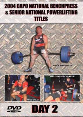 2004 CAPO National Benchpress & Senior Powerlifting Day 2 (DVD)