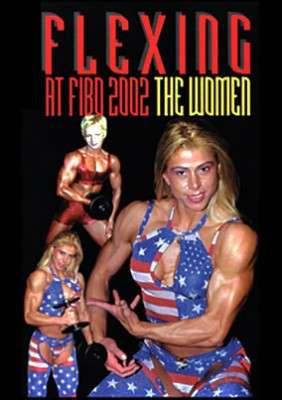 Flexing at FIBO 2002 Women