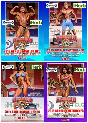 2019 Arnold Amateur NPC DVD covers